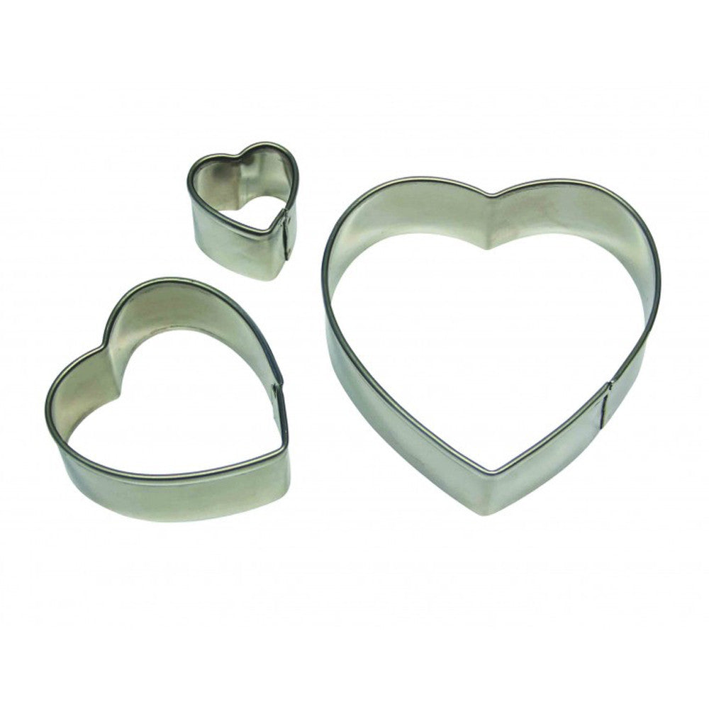 Stainless Steel Heart Cutter Set/3