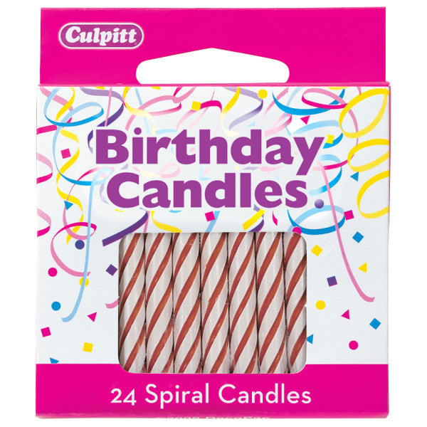 Candles - Spiral Red