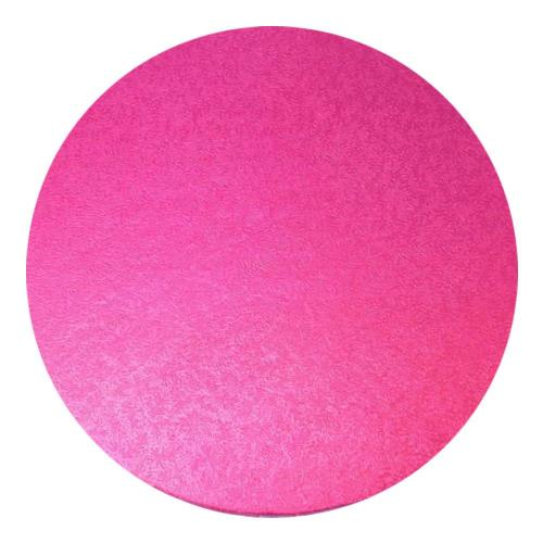 Round Hot Pink Cake Drum 1/2'' Thick