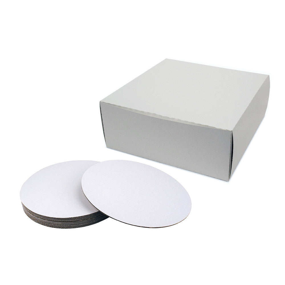 8x8x5 Cake Board & Box Set