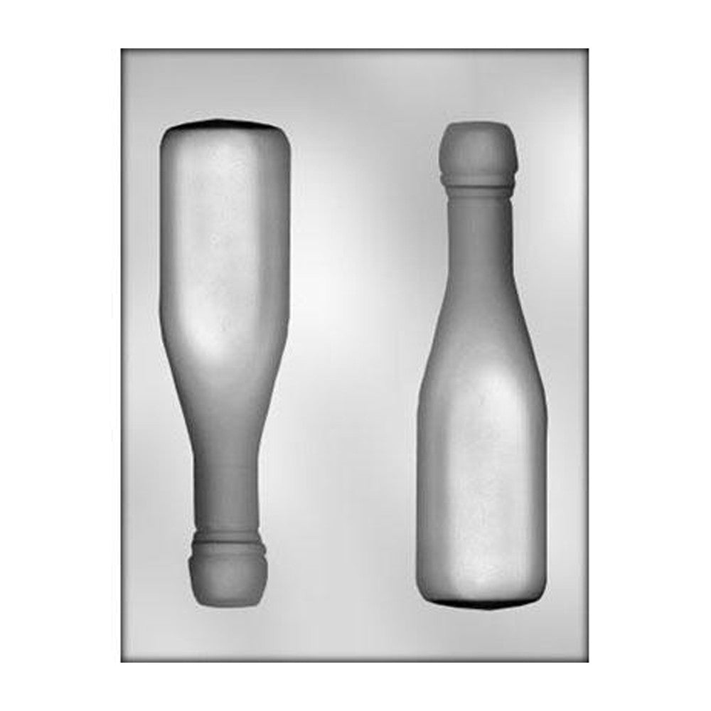 Chocolate Mold - Champagne Bottle 3D