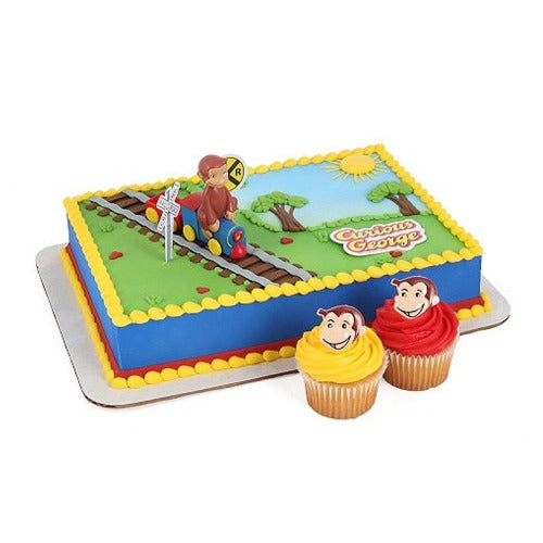 Curious George on Train Cake Topper