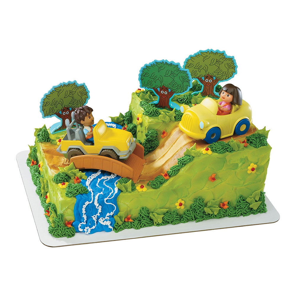 Dora Explorer And Diego Safari Party Cake Topper
