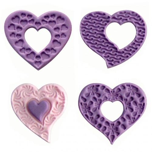 Fantasy Hearts Cupcake Toppers