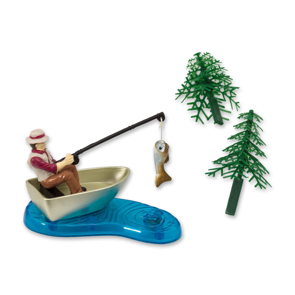 Fisherman with Action Fish Cake Topper