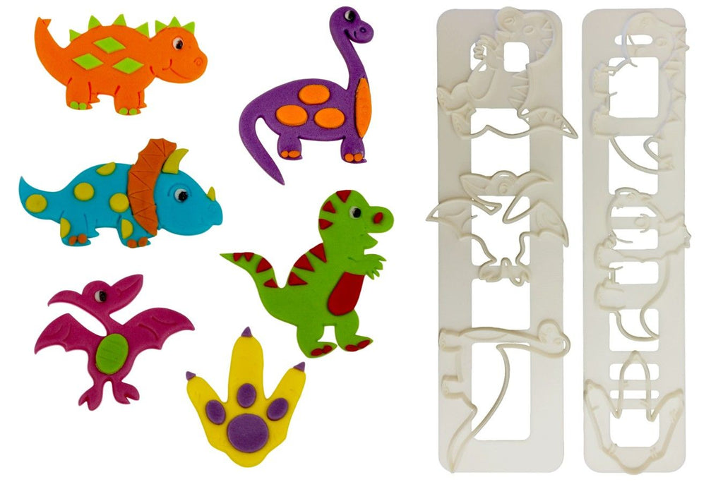 Cute Dinosaurs Cutter Set