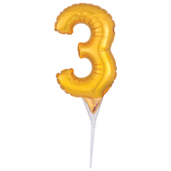 Inflatable Gold Numeral 3