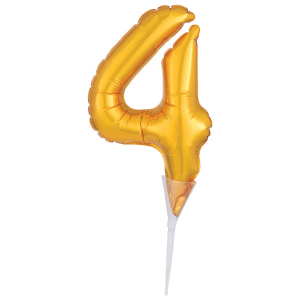 Inflatable Gold Numeral 4