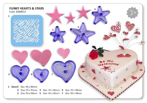Funky Hearts & Stars With Stencil