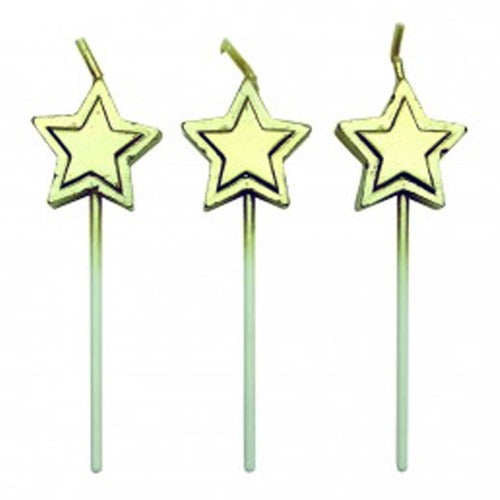 Candles - Gold Stars Set/8