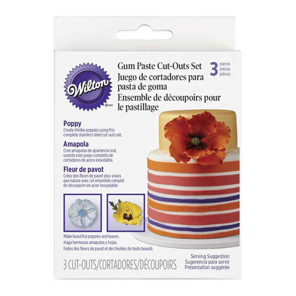 Gumpaste Poppy Cut-Out