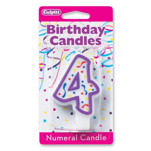 "Candles - Numeral 4, 3""H"
