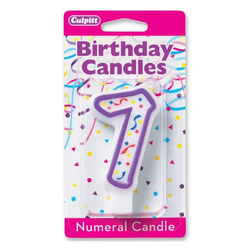 "Numeral 7 Candle, 3""H"