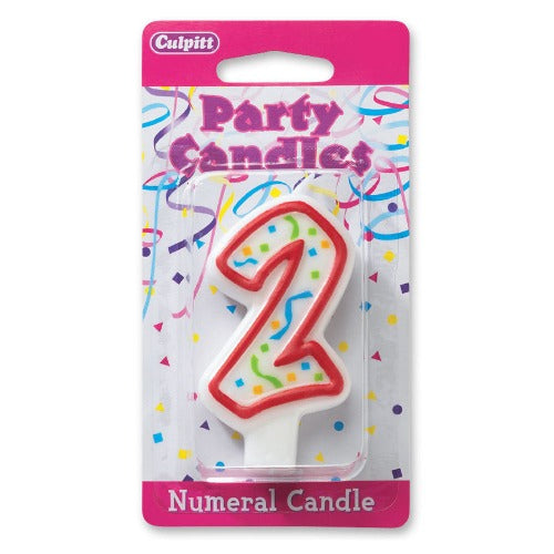 "Numeral 2 Candle, 3""H"