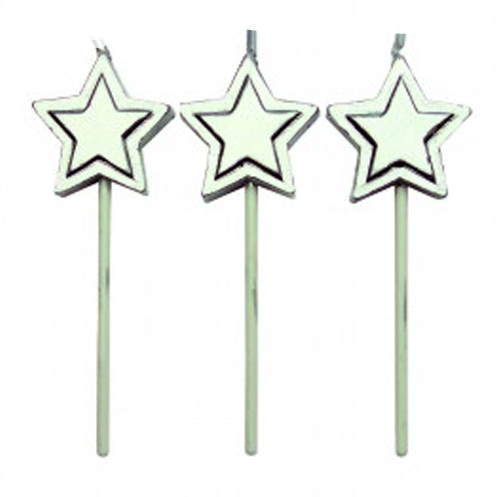 Candles - Silver Stars Set/8