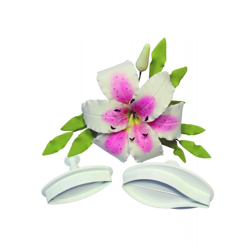 Plunger Cutter Set - Veined Lily Medium