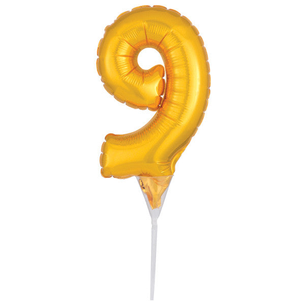 Inflatable Gold Numeral 9