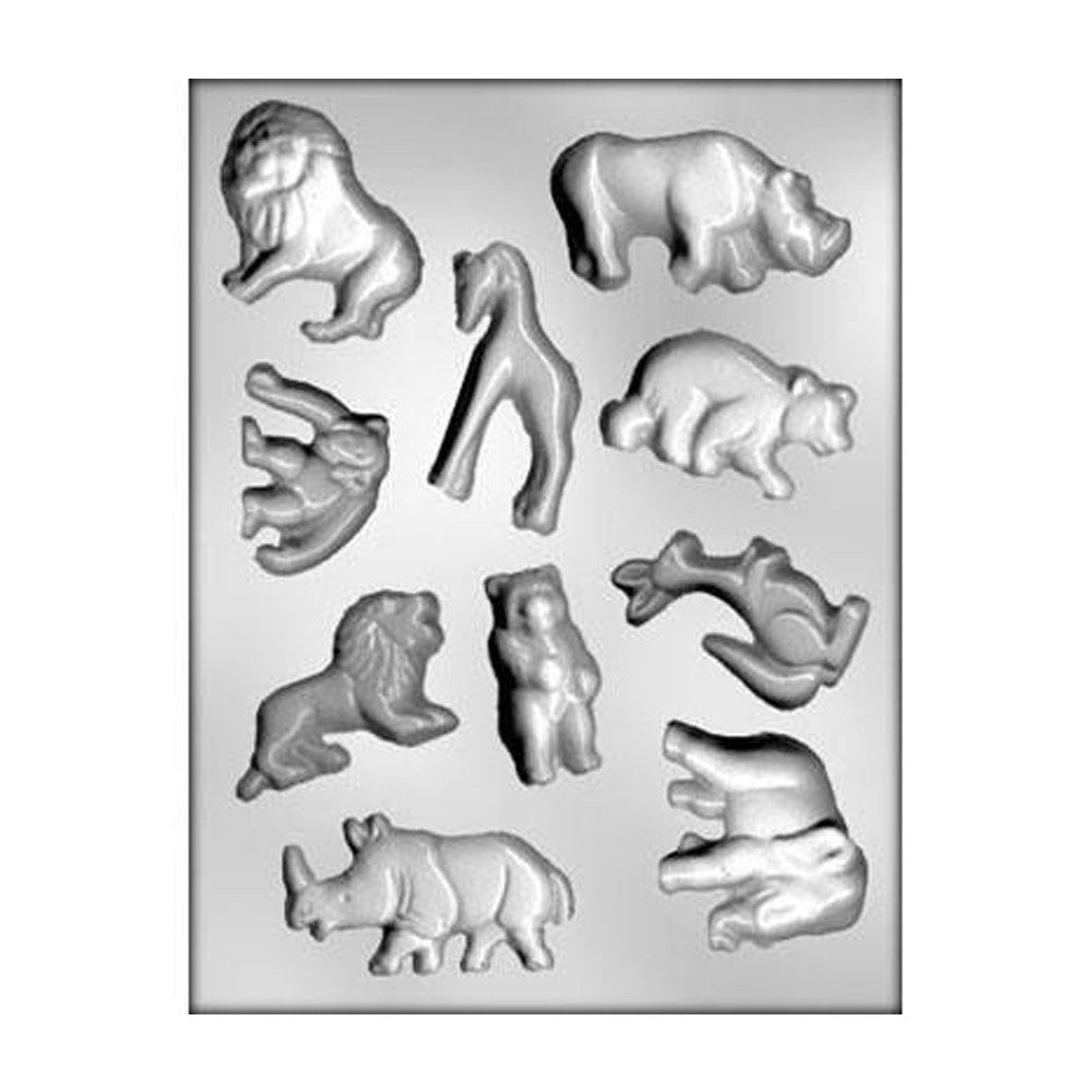 Chocolate Mold - Zoo Animals Assortment
