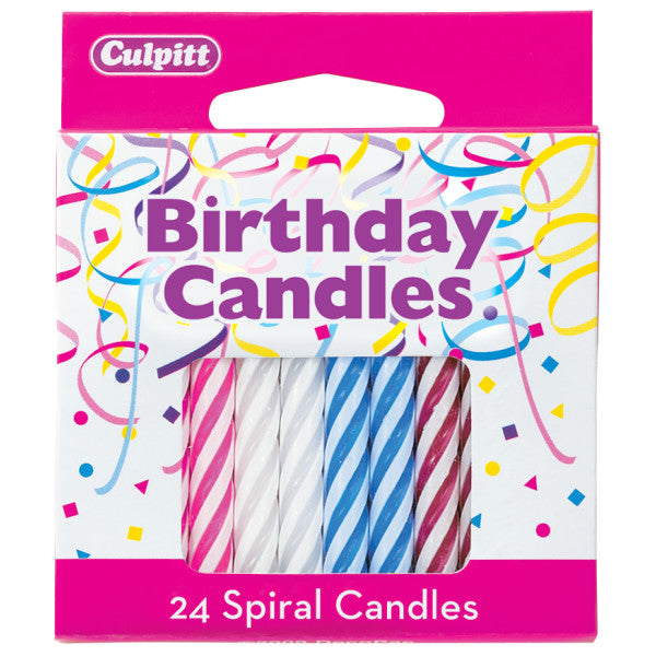 Candles - Spiral Multi Color