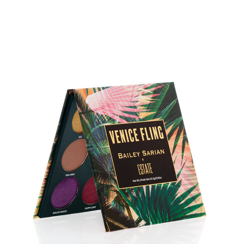 Image of X Bailey Sarian Venice Fling Eyeshadow Palette - Estate Cosmetics Cruelty Free and Vegan