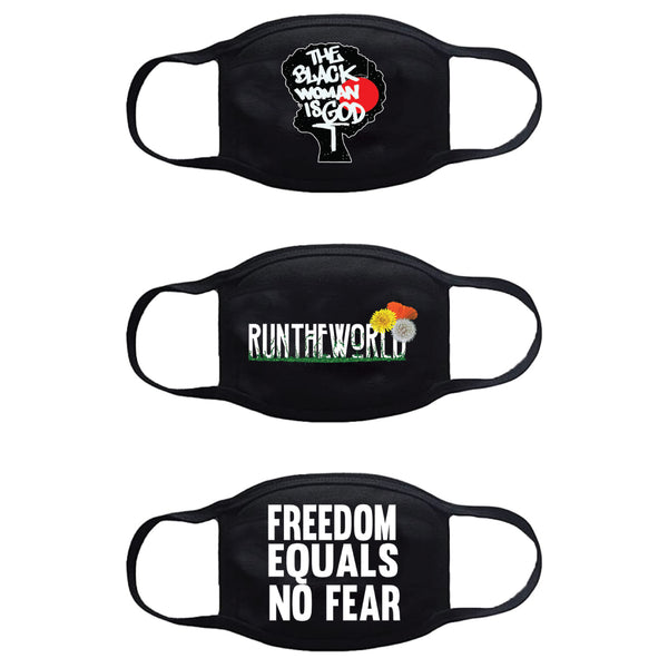 Run The World Face Mask 3 Pack