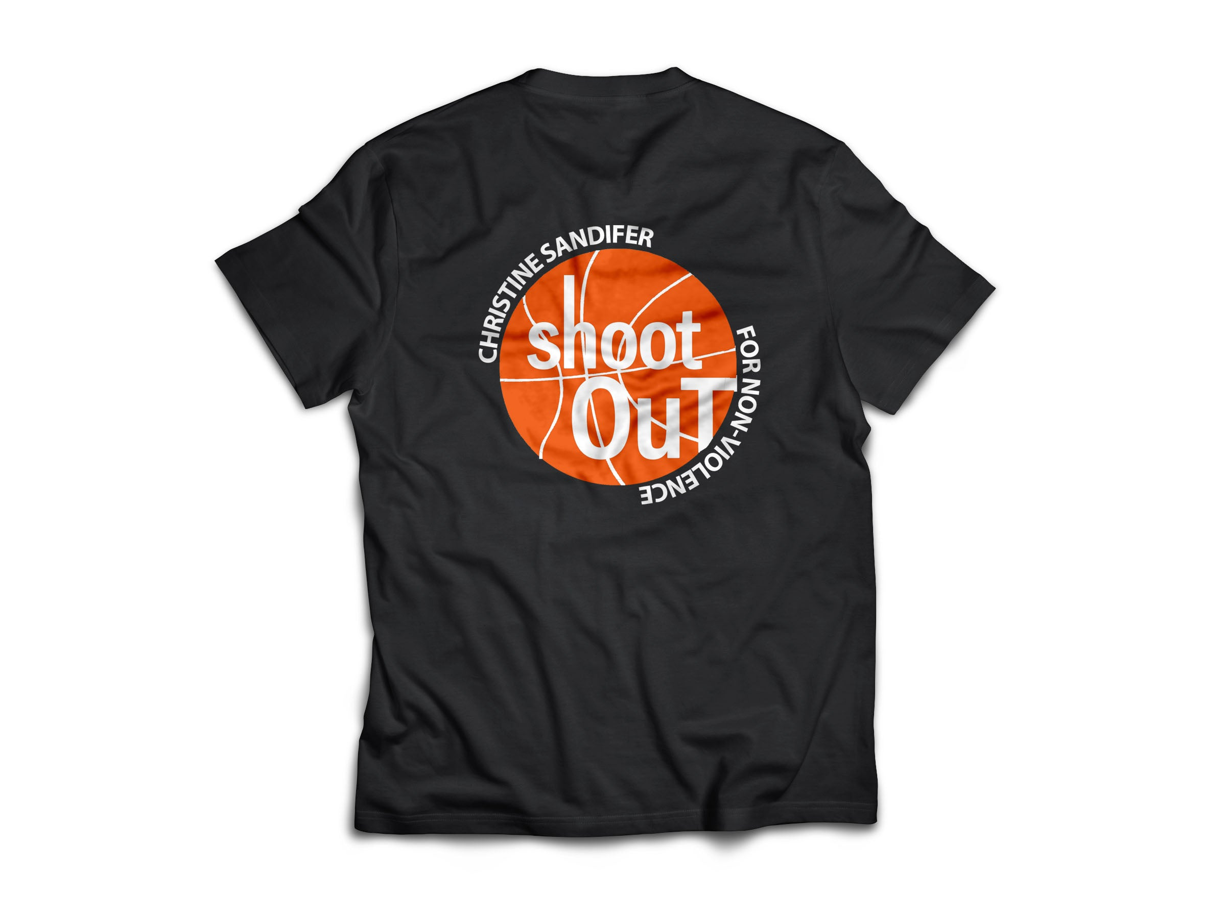 Christine Sandifer Shoot Out For Non-Violence Tournament T-Shirt