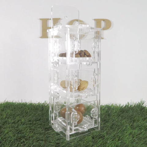 Transparent Acrylic 3 Drawer Foraging Toy