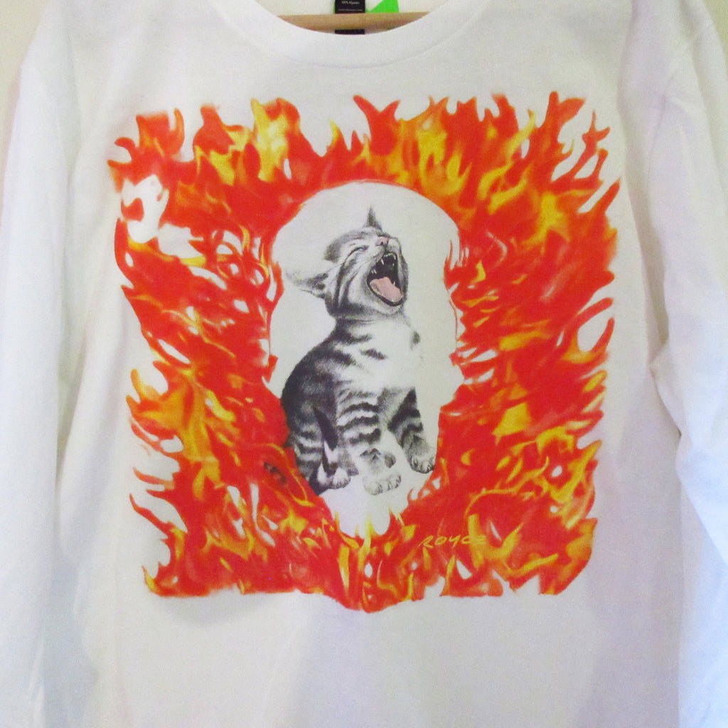 FELINE FIRE Long Sleeve T-Shirt