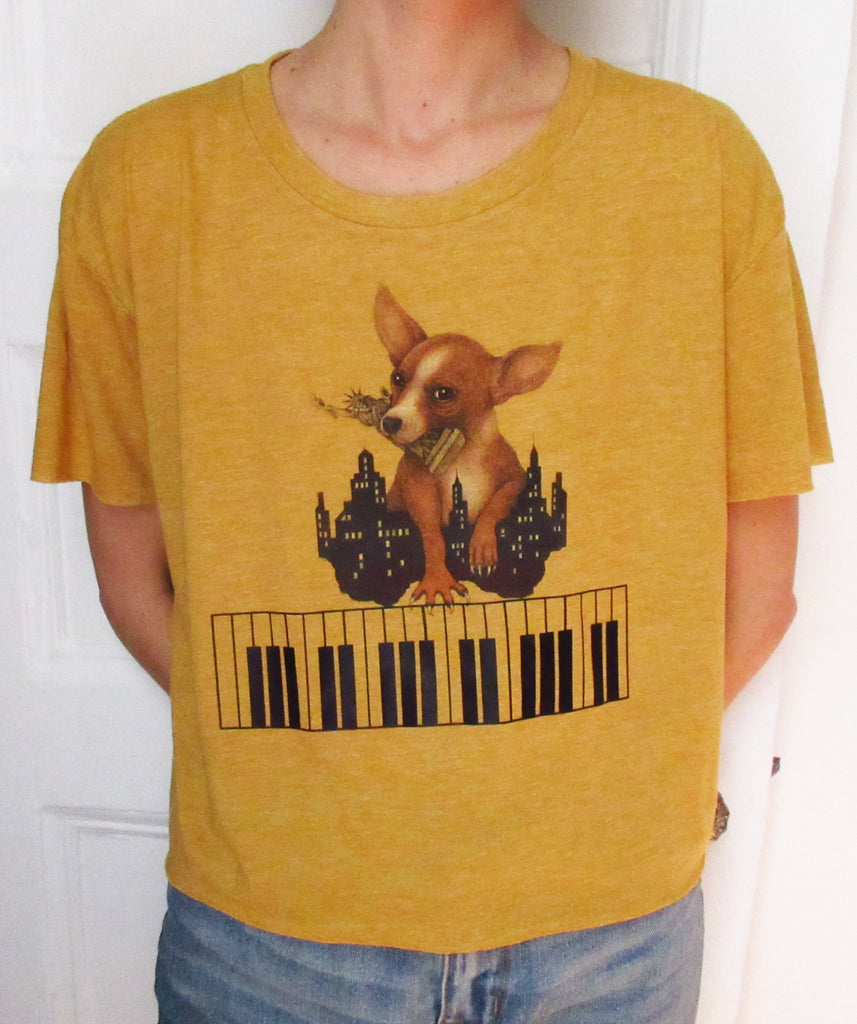 EL PERRO PIANO Limited Edition Crop Shirt