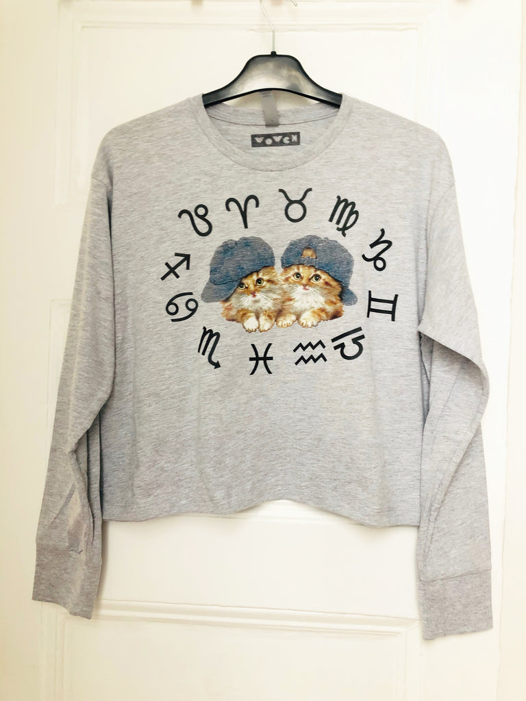 ZODIACAT Limited Edition Longsleeve Loose Crop Shirt