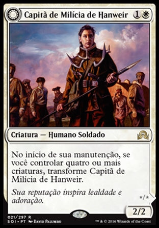 Capitã de Milícia de Hanweir / Hanweir Militia Captain-Magic: The Gathering-MoxLand