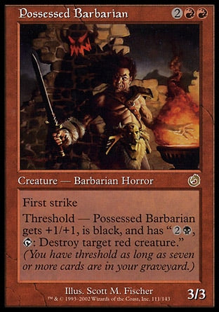 Bárbaro Possuído / Possessed Barbarian-Magic: The Gathering-MoxLand