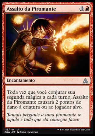 Assalto da Piromante / Pyromancer's Assault-Magic: The Gathering-MoxLand