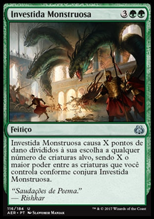 Investida Monstruosa / Monstrous Onslaught-Magic: The Gathering-MoxLand