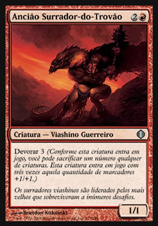 Ancião Surrador-do-Trovão / Thunder-Thrash Elder-Magic: The Gathering-MoxLand