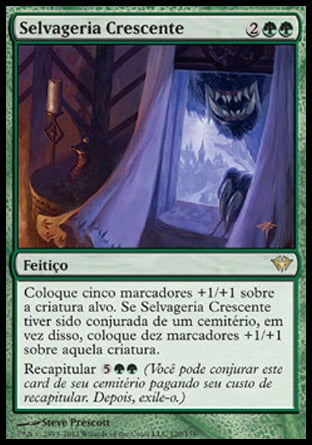 Selvageria Crescente / Increasing Savagery-Magic: The Gathering-MoxLand