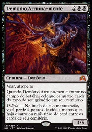 Demônio Arruína-mente / Mindwrack Demon-Magic: The Gathering-MoxLand