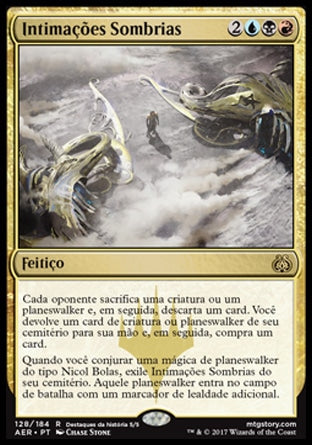 Intimações Sombrias / Dark Intimations-Magic: The Gathering-MoxLand