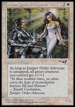 Advogado da Ordem do Zimbro / Juniper Order Advocate-Magic: The Gathering-MoxLand