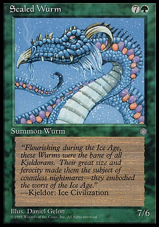 Serpente Terrestre Escamada / Scaled Wurm-Magic: The Gathering-MoxLand