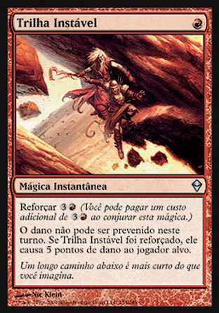 Trilha Instável / Unstable Footing-Magic: The Gathering-MoxLand