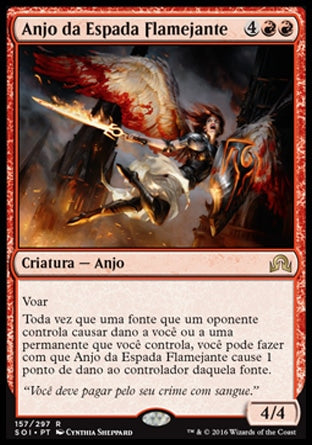 Anjo da Espada Flamejante / Flameblade Angel-Magic: The Gathering-MoxLand