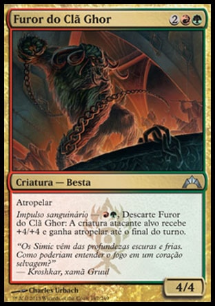 Furor do Clã Ghor / Ghor-Clan Rampager-Magic: The Gathering-MoxLand