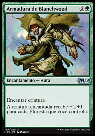 Armadura de Blanchwood / Blanchwood Armor-Magic: The Gathering-MoxLand