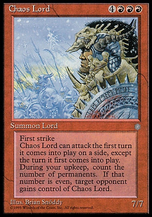 Senhor do Caos / Chaos Lord-Magic: The Gathering-MoxLand