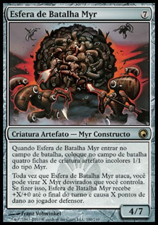 Esfera de Batalha Myr / Myr Battlesphere-Magic: The Gathering-MoxLand
