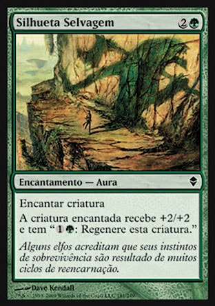 Silhueta Selvagem / Savage Silhouette-Magic: The Gathering-MoxLand
