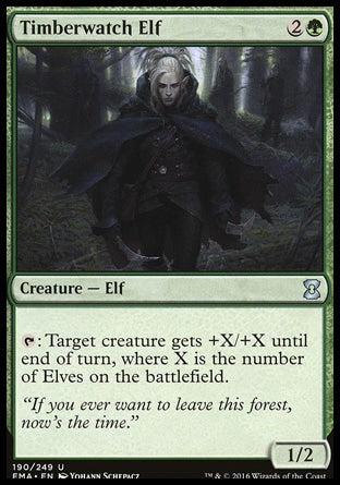 Elfo Vigia dos Pinheiros / Timberwatch Elf-Magic: The Gathering-MoxLand