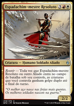 Espadachim-mestre Resoluto / Resolute Blademaster-Magic: The Gathering-MoxLand