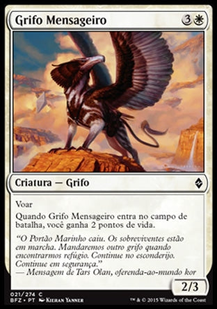 Grifo Mensageiro / Courier Griffin-Magic: The Gathering-MoxLand